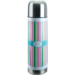 Grosgrain Stripe Stainless Steel Thermos (Personalized)