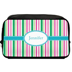 Grosgrain Stripe Toiletry Bag / Dopp Kit (Personalized)