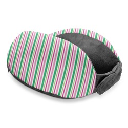Grosgrain Stripe Travel Neck Pillow (Personalized)