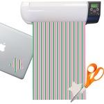 Grosgrain Stripe Sticker Vinyl Sheet (Permanent)