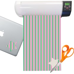 Grosgrain Stripe Sticker Vinyl Sheet (Permanent)