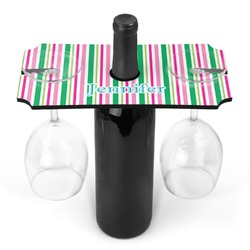 Grosgrain Stripe Wine Bottle & Glass Holder (Personalized)