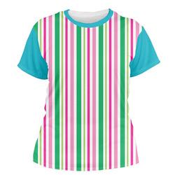 Grosgrain Stripe Women's Crew T-Shirt (Personalized)