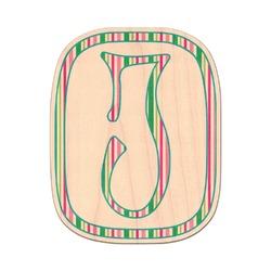 Grosgrain Stripe Genuine Wood Sticker (Personalized)