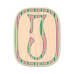 Grosgrain Stripe Genuine Maple or Cherry Wood Sticker (Personalized)
