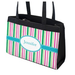 Grosgrain Stripe Zippered Everyday Tote (Personalized)