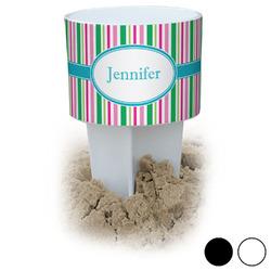 Grosgrain Stripe Beach Spiker Drink Holder (Personalized)