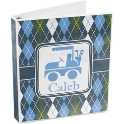 Blue Argyle 3-Ring Binder (Personalized)