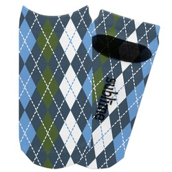 Blue Argyle Adult Ankle Socks (Personalized)
