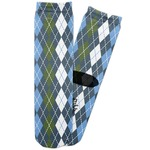 Blue Argyle Adult Crew Socks (Personalized)