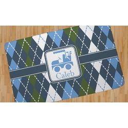 Blue Argyle Area Rug (Personalized)