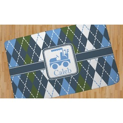 Blue Argyle Area Rug (Personalized)