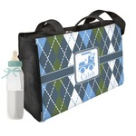 Blue Argyle Diaper Bag (Personalized)