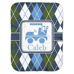 Blue Argyle Baby Swaddling Blanket (Personalized)