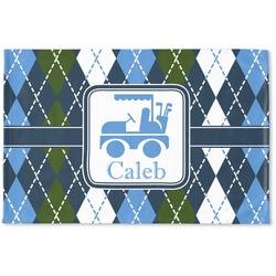 Blue Argyle Woven Mat (Personalized)