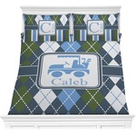 Blue Argyle Comforters (Personalized)