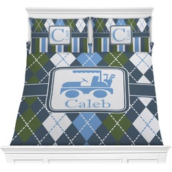 Blue Argyle Comforter Set (Personalized)