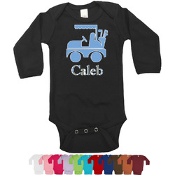 Blue Argyle Bodysuit - Long Sleeves - 0-3 months (Personalized)