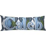 Blue Argyle Body Pillow Case (Personalized)