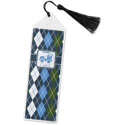 Blue Argyle Book Mark w/Tassel (Personalized)