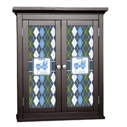 Blue Argyle Cabinet Decal - Custom Size (Personalized)