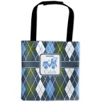 Blue Argyle Auto Back Seat Organizer Bag (Personalized)