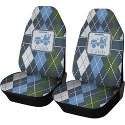 Blue Argyle Car Seat Covers (Set of Two) (Personalized)