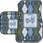 Blue Argyle Car Floor Mats (Personalized)
