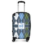 Blue Argyle Suitcase (Personalized)