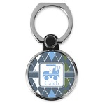 Blue Argyle Cell Phone Ring Stand & Holder (Personalized)