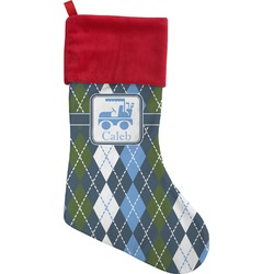 Blue Argyle Christmas Stocking (Personalized)