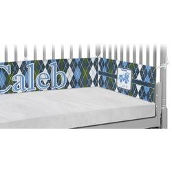 Blue Argyle Crib Bumper Pads (Personalized)