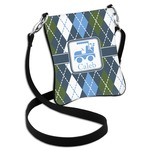 Blue Argyle Cross Body Bag - 2 Sizes (Personalized)