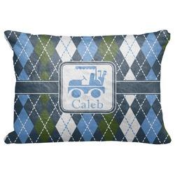 Blue Argyle Decorative Baby Pillowcase - 16