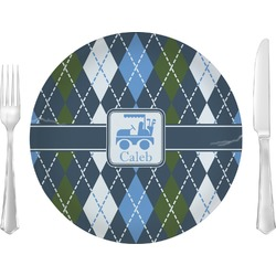 Blue Argyle Dinner Plate (Personalized)