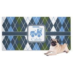 Blue Argyle Pet Towel (Personalized)