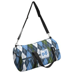 Blue Argyle Duffel Bag (Personalized)