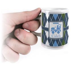 Blue Argyle Espresso Mug - 3 oz (Personalized)