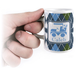 Blue Argyle Espresso Mug - 3 oz (Personalized)
