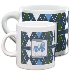 Blue Argyle Espresso Cups (Personalized)