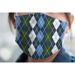 Blue Argyle Face Mask Cover (Personalized)