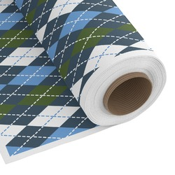 Blue Argyle Custom Fabric by the Yard (Personalized)