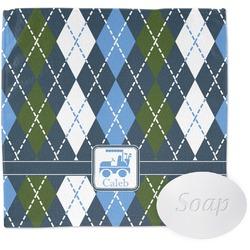 Blue Argyle Wash Cloth (Personalized)
