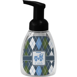 Blue Argyle Foam Soap Dispenser (Personalized)