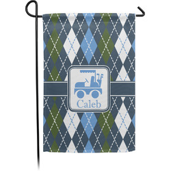 Blue Argyle Garden Flag - Single or Double Sided (Personalized)