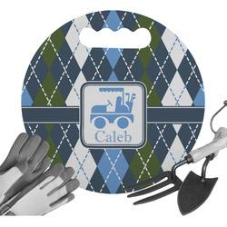 Blue Argyle Gardening Knee Cushion (Personalized)