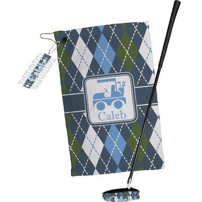 Blue Argyle Golf Towel Gift Set (Personalized)