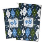 Blue Argyle Golf Towel - Full Print w/ Name or Text