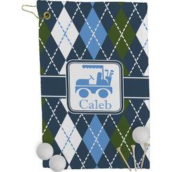 Blue Argyle Golf Towel - Full Print (Personalized)