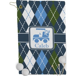 Blue Argyle Golf Towel - Full Print (Personalized)